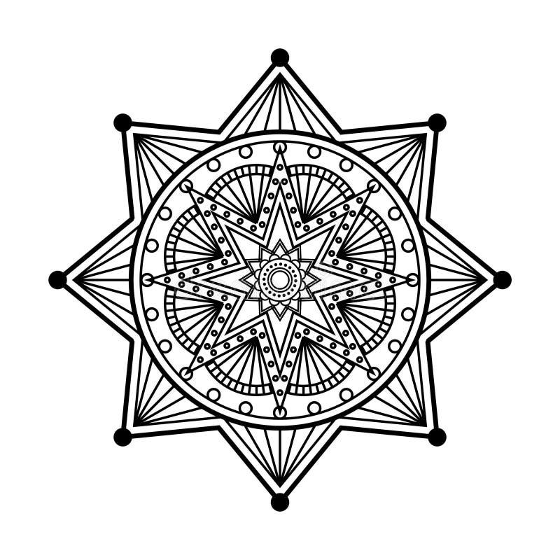 Mandalaornament stock illustratie