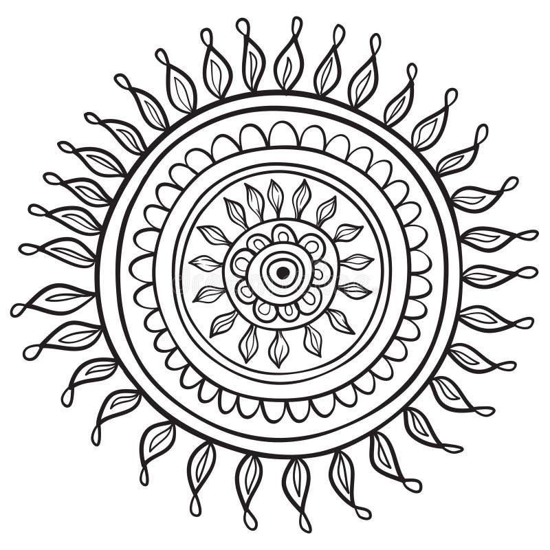 Mandalapatroon stock illustratie