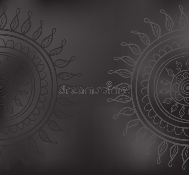 Mandalapatroon vector illustratie