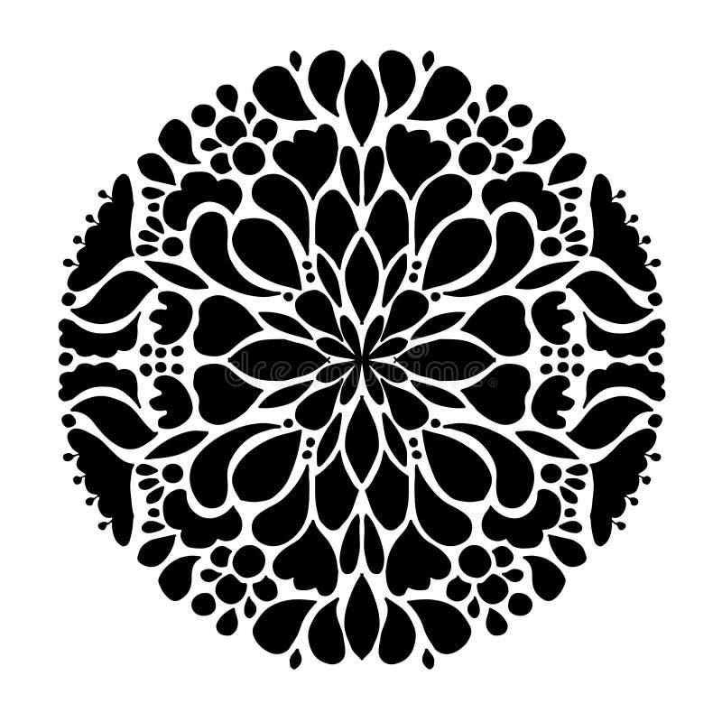 Mandalaprydnad, abstrakt modell för din design vektor illustrationer