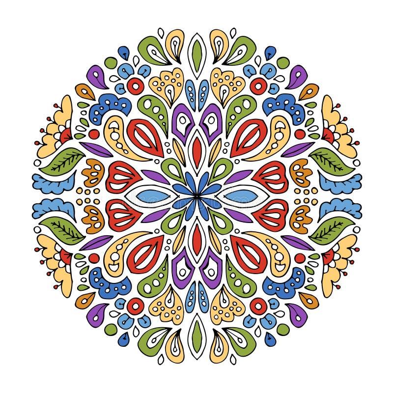 Mandalaprydnad, abstrakt modell för din design stock illustrationer