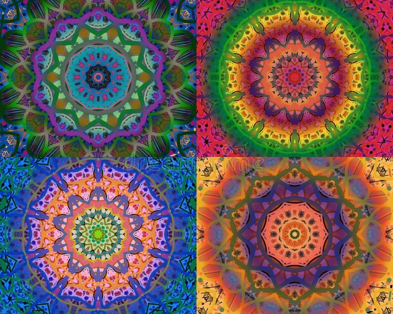 Mandalas κολάζ διανυσματική απεικόνιση