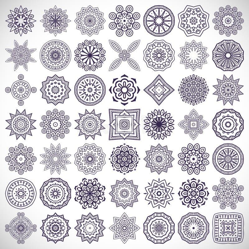 mandalas ilustración del vector