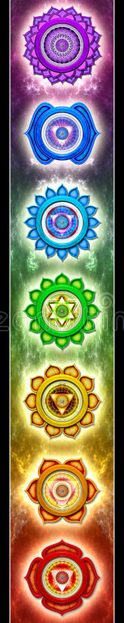 mandalas chakra απεικόνιση αποθεμάτων