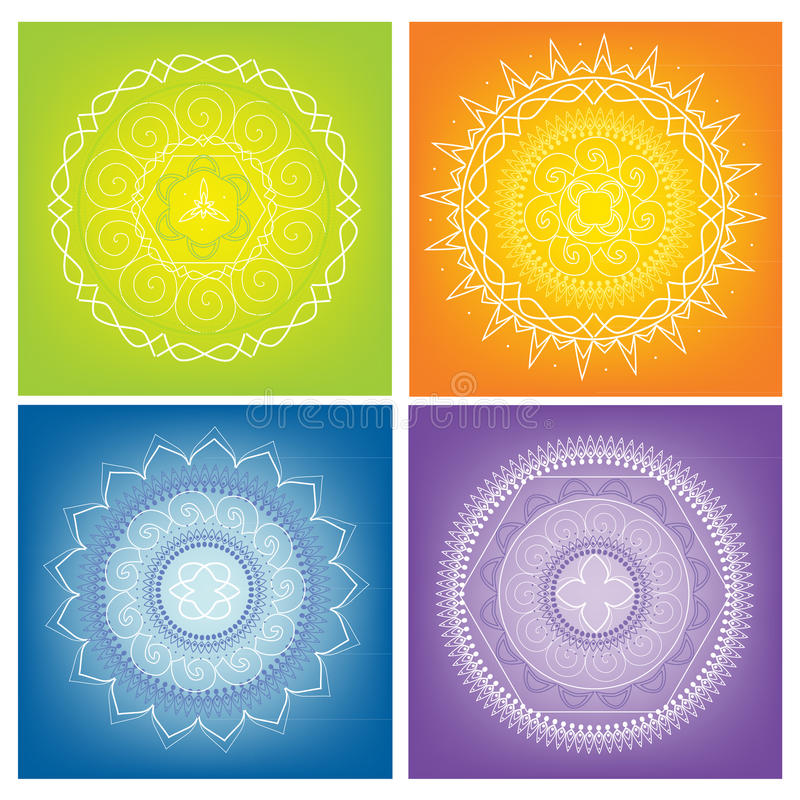 Mandalas coloridas fotos de stock