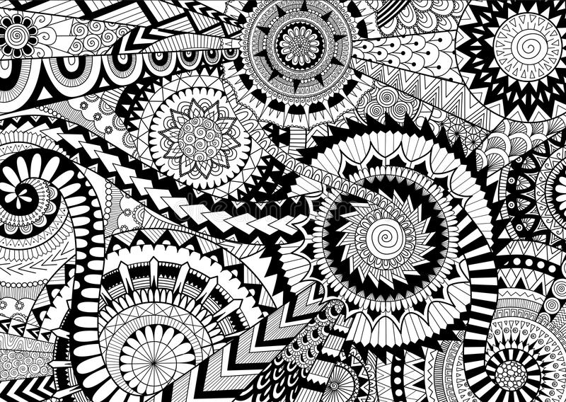 Mandalas complicadas ilustração royalty free
