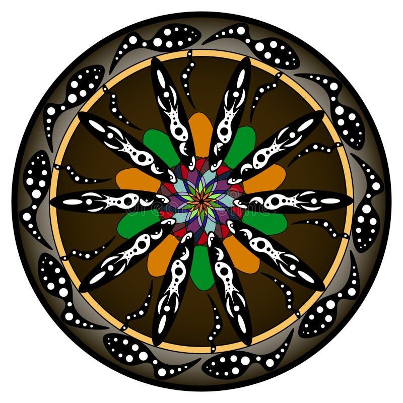 Mandalas da flor Elementos decorativos do vintage Teste padrão oriental, ilustração do vetor Islã, árabe, indiano, turco imagens de stock
