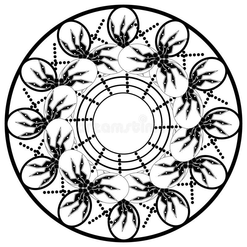 Mandalas de la flor Elementos decorativos de la vendimia Modelo oriental, ejemplo del vector Islam, árabe, indio, turco ilustración del vector