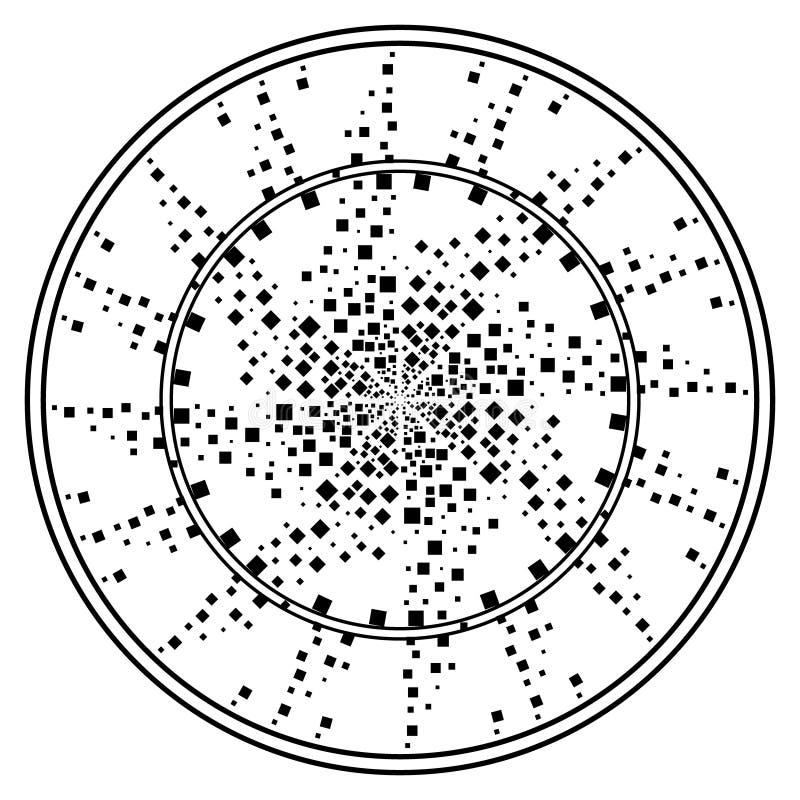 Mandalas de la flor Elementos decorativos de la vendimia Modelo oriental, ejemplo del vector Islam, árabe, indio, turco libre illustration