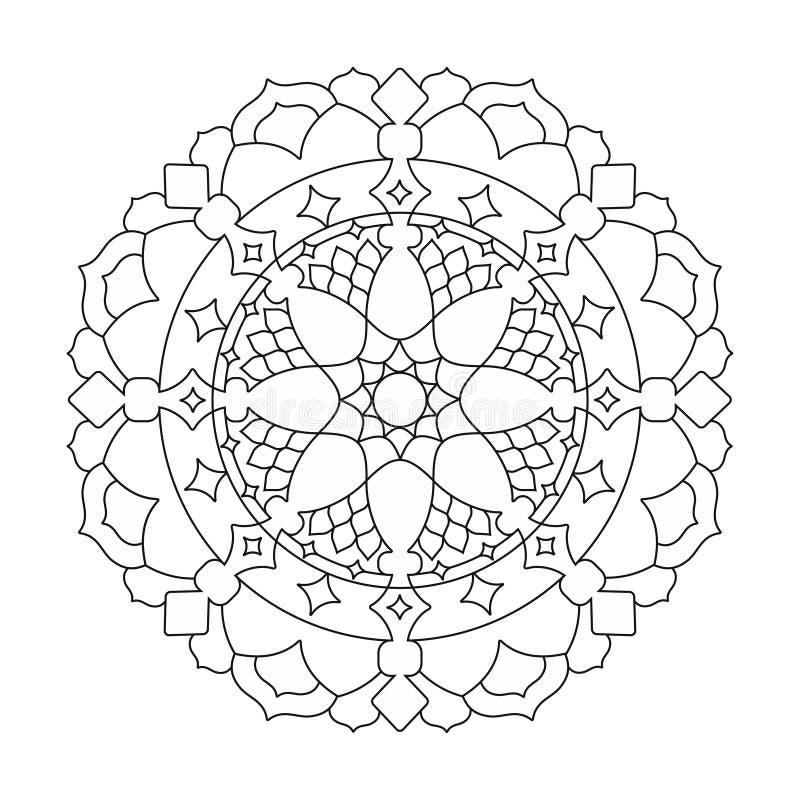 Mandalas de la flor Modelo indio redondo geométrico del ornamento Ejemplo oriental del modelo stock de ilustración