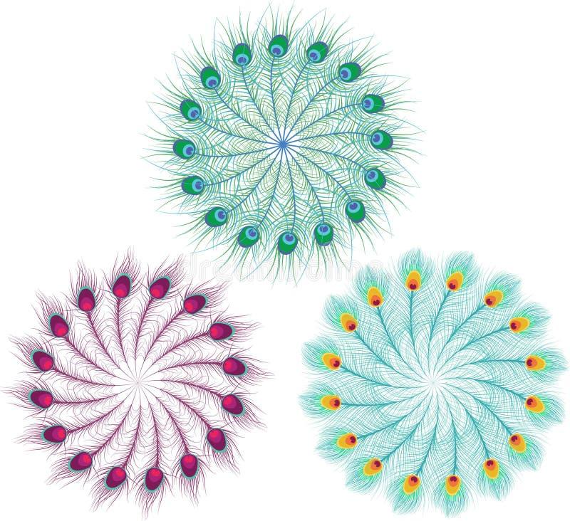 Mandalas de la pluma libre illustration