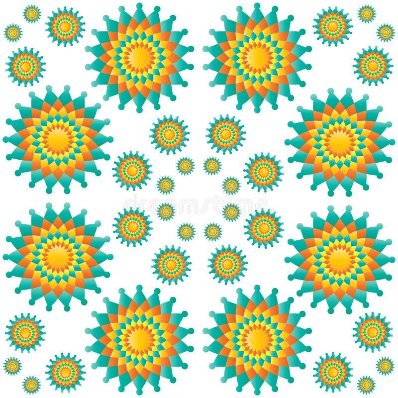 Mandalas naadloos patroon stock illustratie
