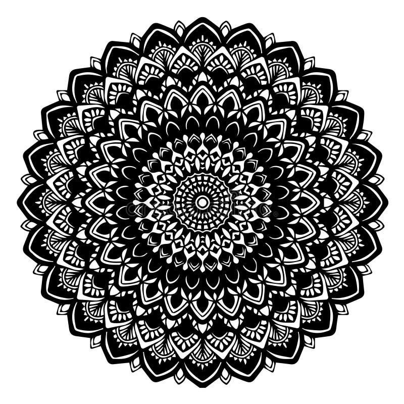 Mandalas para o livro para colorir Ornamento redondos decorativos Forma incomum da flor Vetor oriental, testes padrões da terapia ilustração do vetor