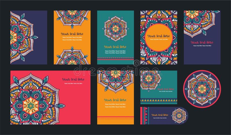 Mandalas pour livre de coloriage Ornements ronds décoratifs Forme peu commune de fleur Vecteur oriental, modèles de thérapie d'An illustration de vecteur