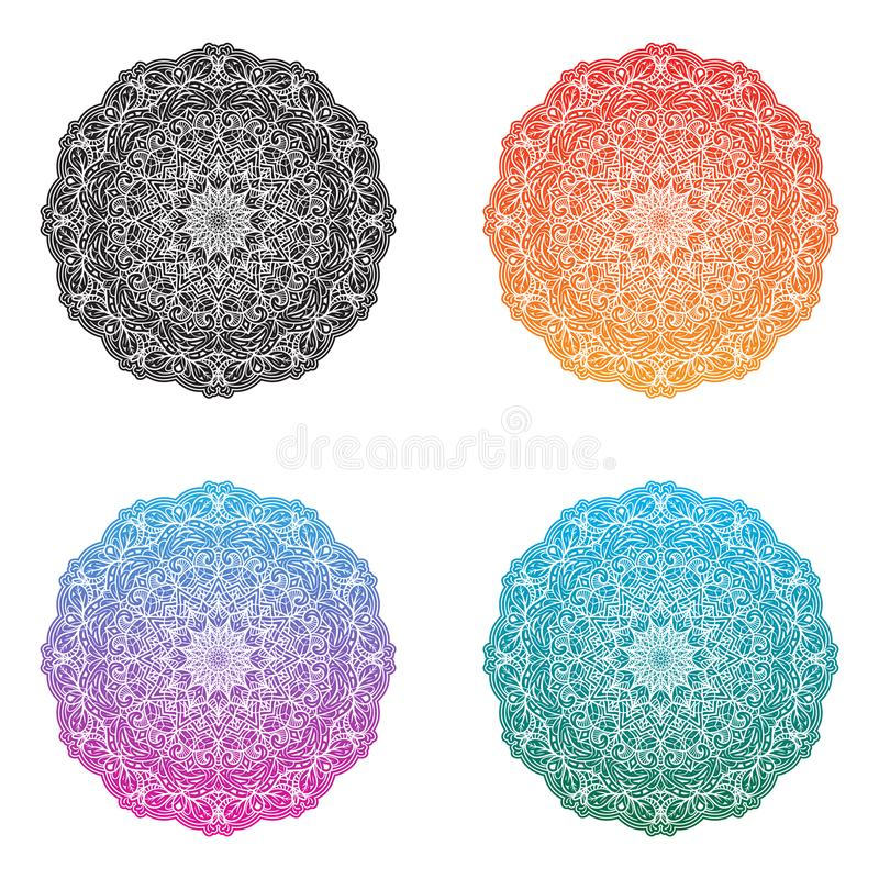 Mandalas - projeto quatro por SFPater imagem de stock