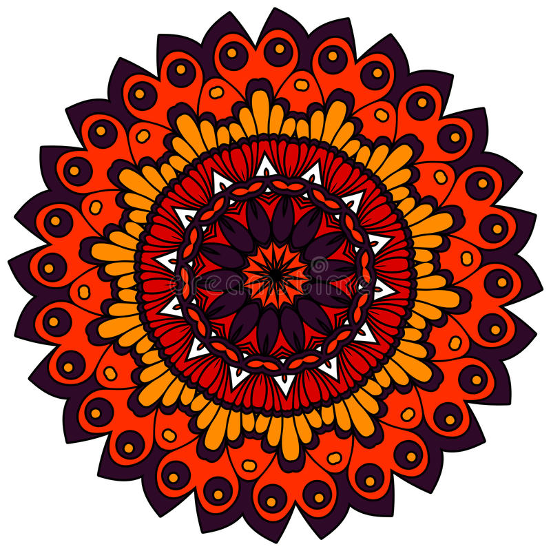 mandalas Uitstekende decoratieve elementen Oosters patroon, vector stock illustratie