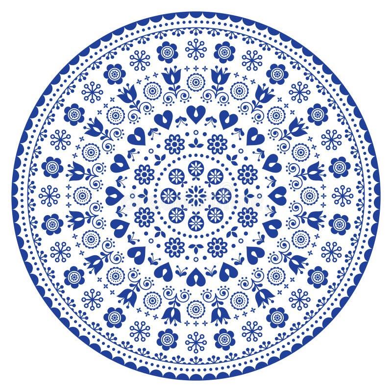 Mandalaschwarzweiss-Vektorkunst, australischer Punkt, der dekoratives Design, eingeborene Volkskunstböhmeart malt lizenzfreie abbildung