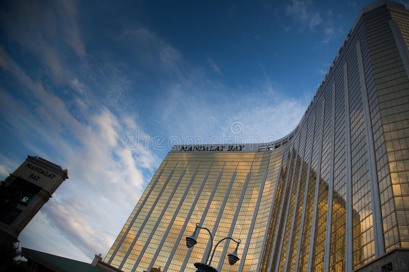 Mandalay Bay Casino. Las Vegas, Mandalay Bay Casino in the afternoon one day in March stock image