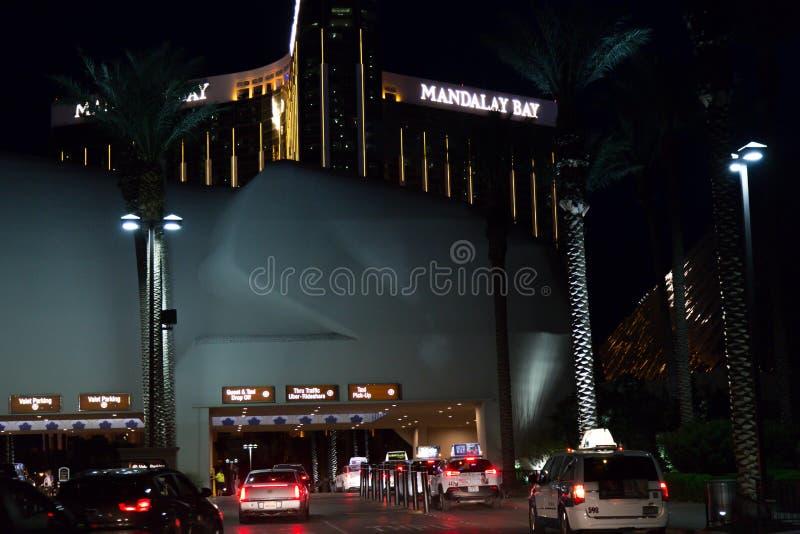 Mandalay Bay Casino. Las Vegas, Mandalay Bay Casino , by night royalty free stock image