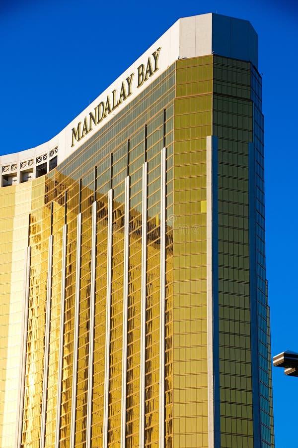 Mandalay Bay Casino and Resort Hotel after the shoot incident. LAS VEGAS - OCT 07 ,2017 : Mandalay Bay Casino and Resort Hotel after the shoot incident on the stock photography