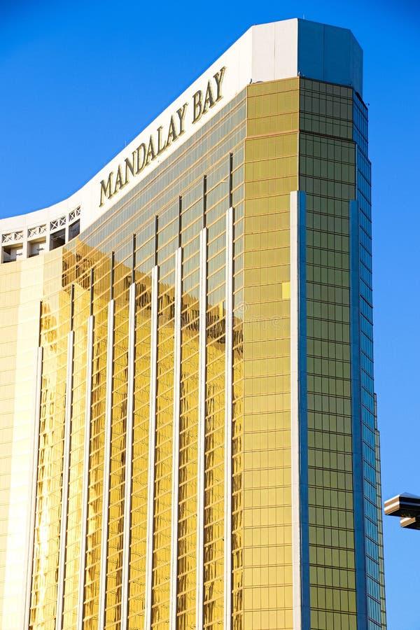 Mandalay Bay Casino and Resort Hotel after the shoot incident. LAS VEGAS - OCT 07 ,2017 : Mandalay Bay Casino and Resort Hotel after the shoot incident on the stock images
