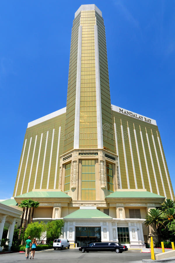 Mandalay Bay Hotel in Las Vegas stock image