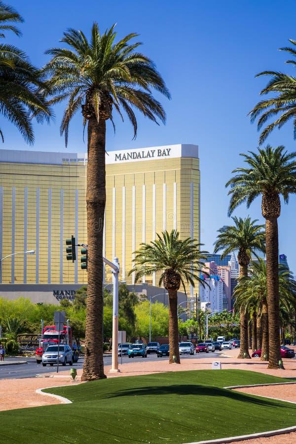 Mandalay Bay hotell, remsan, Las Vegas Boulevard, Las Vegas, Nevada, USA, Nordamerika arkivbilder