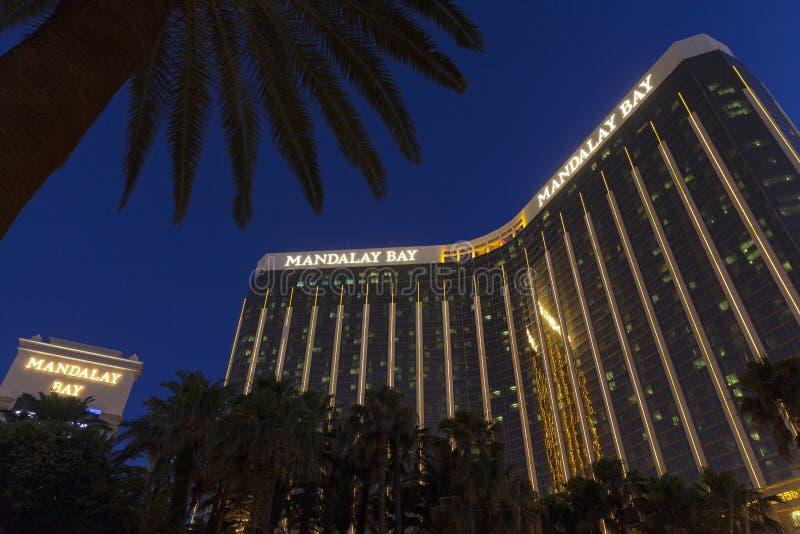 Mandalay Bay at night in Las Vegas, NV on May 31, 2013 royalty free stock image