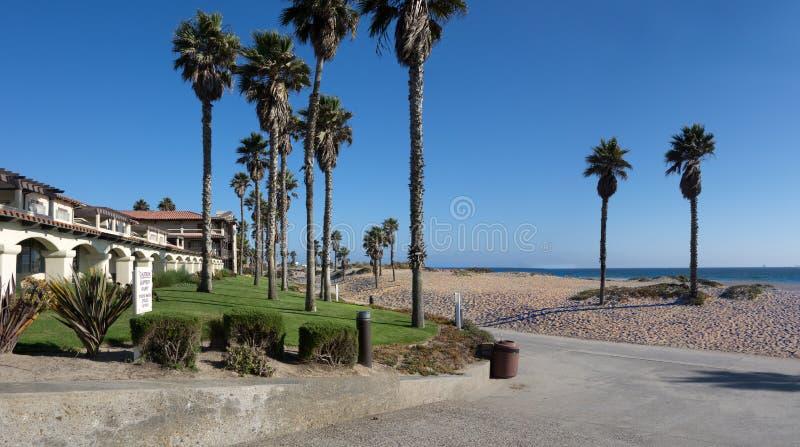 Mandalay Beach, Oxnard, CA. Inviting freshness of breezy ocean Mandalay beach, Oxnard, California royalty free stock images