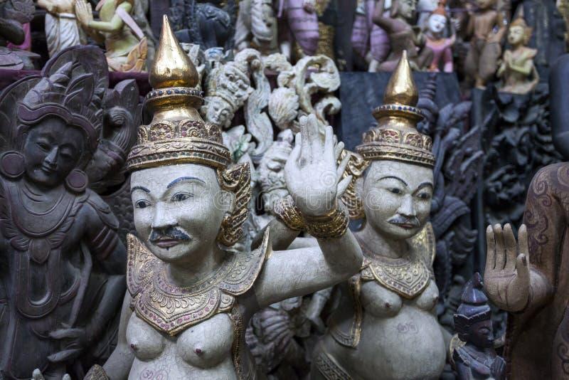 Mandalay - fábrica de las mercancías foto de archivo