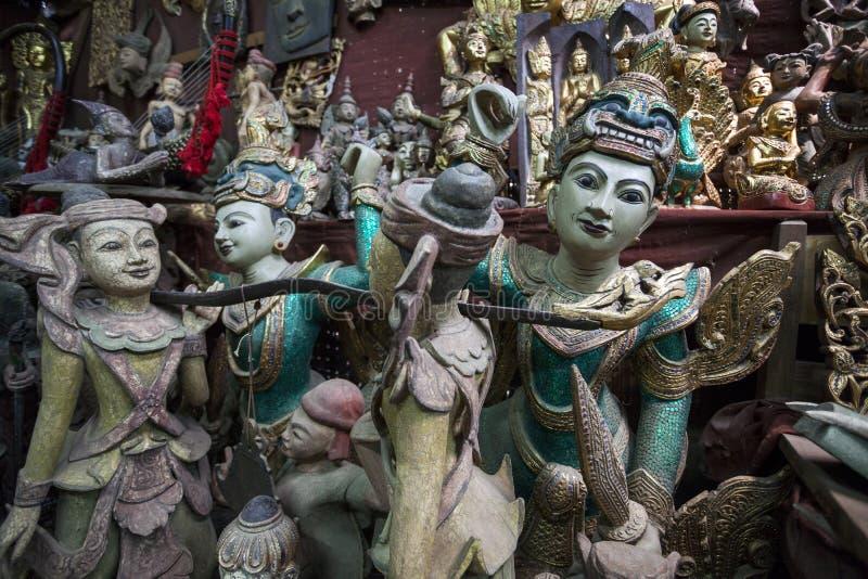 Mandalay - fabbrica delle merci fotografia stock libera da diritti