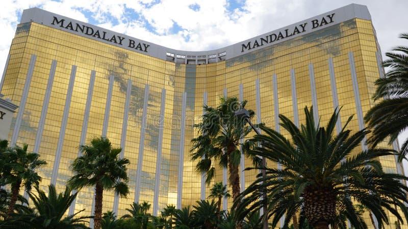 Mandalay fjärdhotell och kasino i Las Vegas arkivbilder