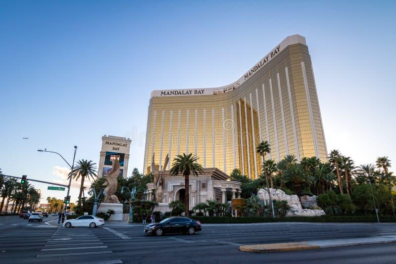 Mandalay fjärdhotell och kasino - Las Vegas, Nevada, USA royaltyfri bild