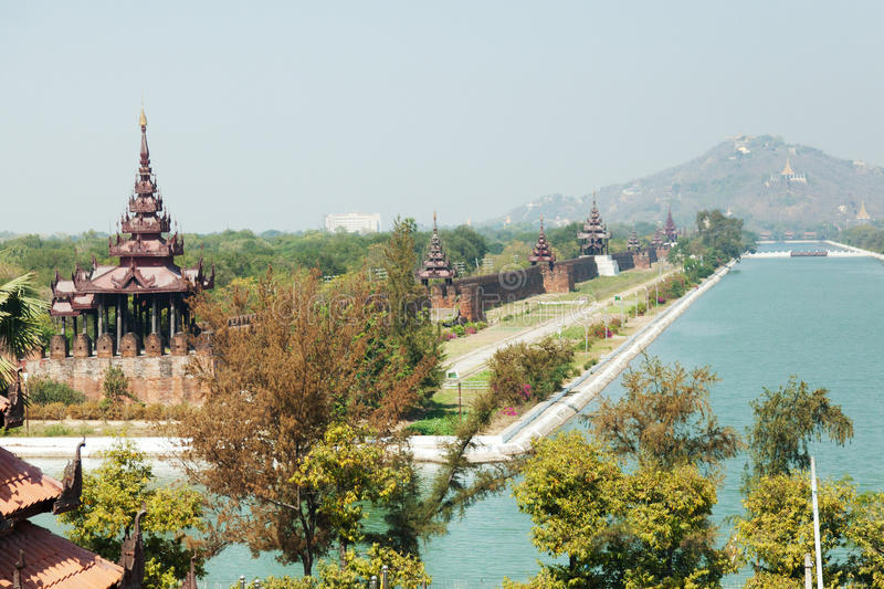 Mandalay Hill. Viewed from a honemoon suite at Sedona Hotel stock photography