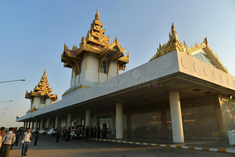 Mandalay International Airport royalty free stock photography