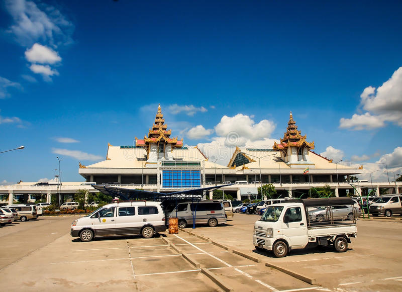 Mandalay international airport, Myanmar 1. MANDALAY MAY22: Mandalay international airport in Mandalay, Myanmar on May 22, 2014. This airport is completed in 1999 stock image