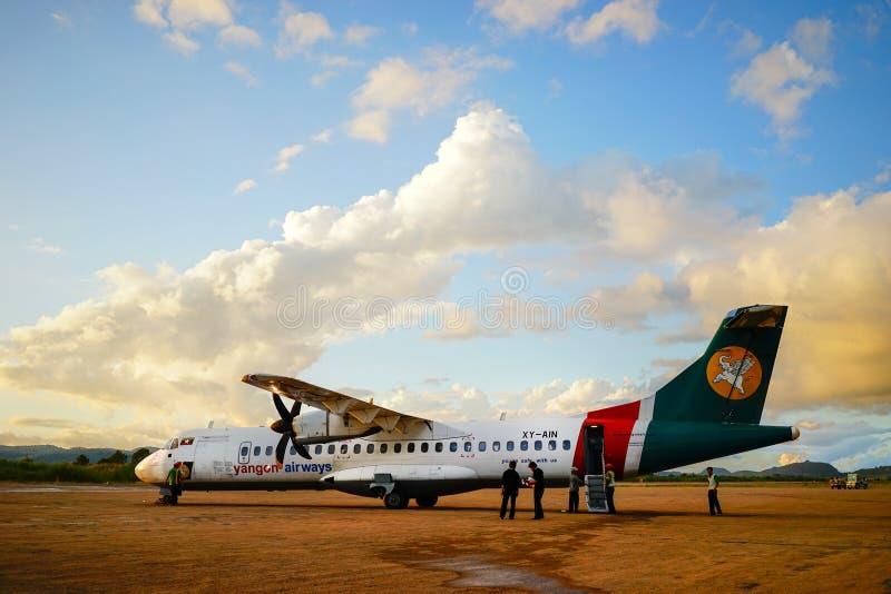 Mandalay International Airport in Myanmar. stock images