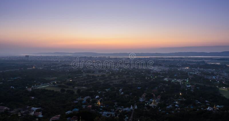 Mandalay kulle, Myanmar royaltyfri foto