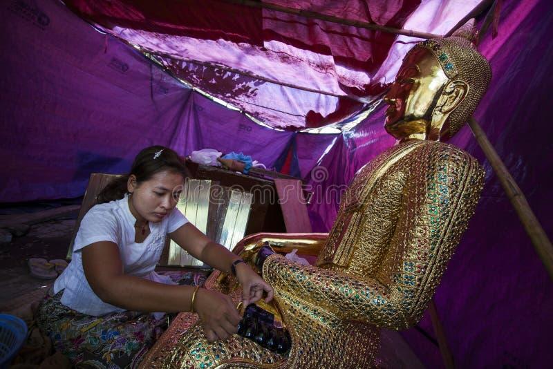 Mandalay, Mahamuni pagoda - fotografia royalty free