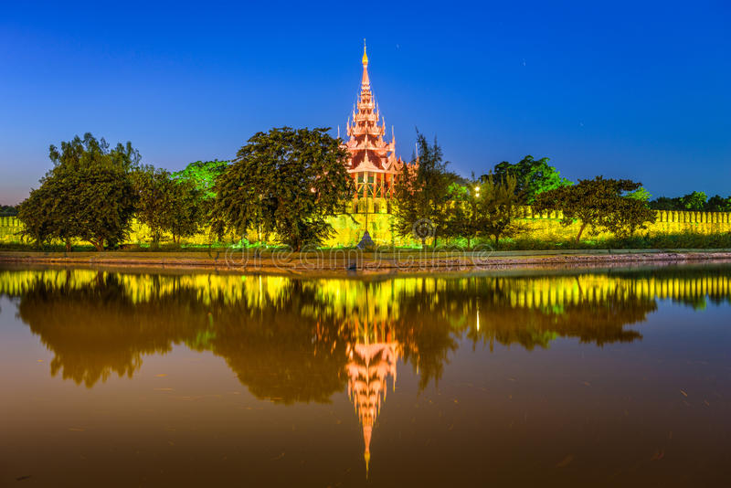 Mandalay Myanmar Palace. Mandalay, Myanmar at the royal palace moat royalty free stock image