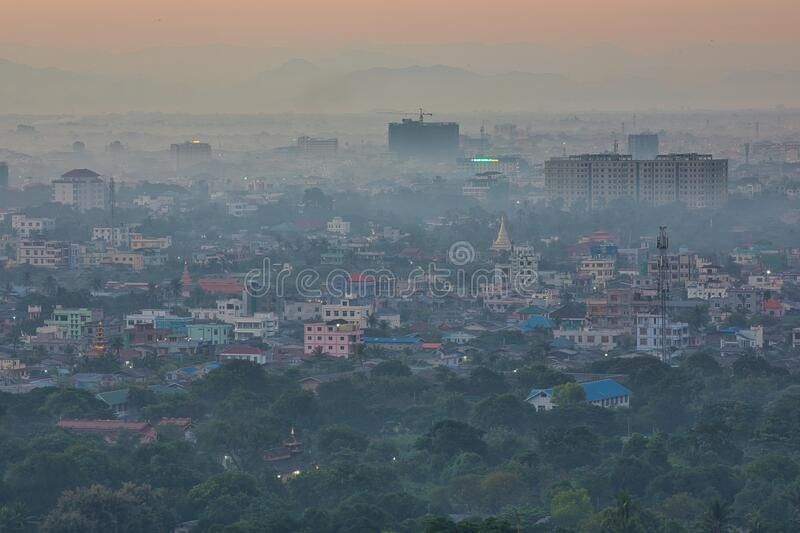 Mandalay is a second largest city of MyanmarBurma. MANDALAY/MYANMARBURMA - 26th Nov, 2019 : Mandalay is a second largest city of MyanmarBurma royalty free stock images