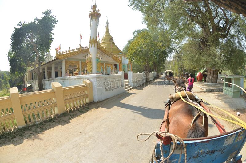 Mandalay Oe Toke Tan pony cart taxi. Myanmar Mandalay Oe Toke Tan pony cart taxi royalty free stock photography