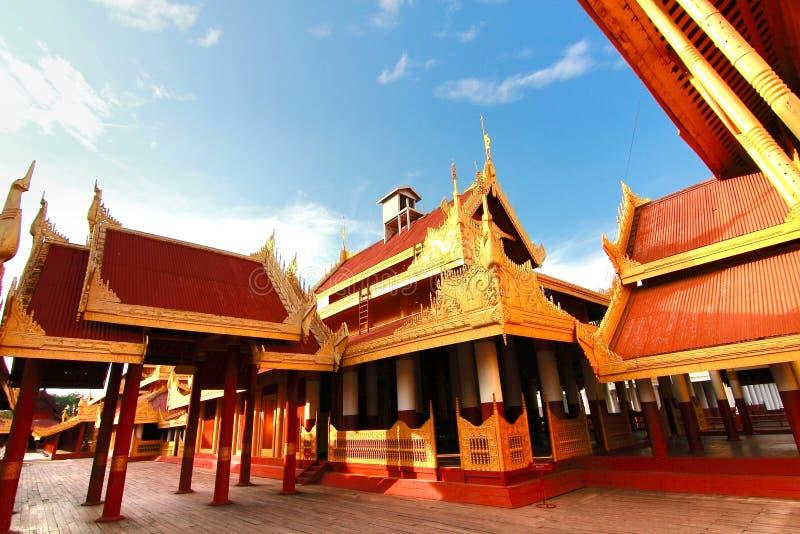 Mandalay pałac Myanmar obraz royalty free