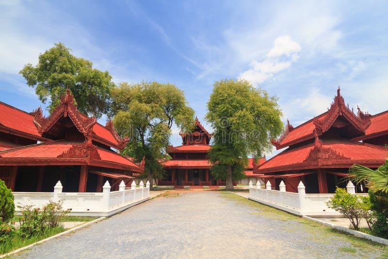 Mandalay Palace stock afbeelding