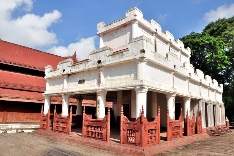Mandalay Palace stock afbeeldingen