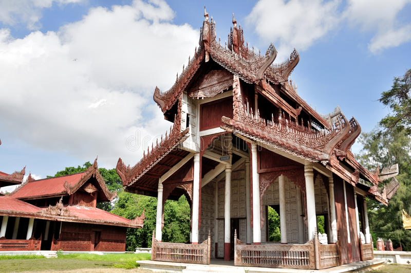 Mandalay Palace royalty-vrije stock fotografie