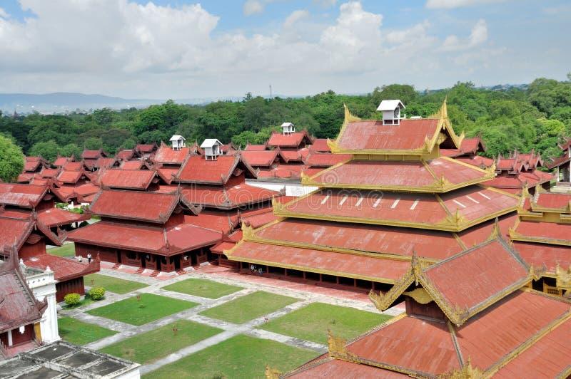Mandalay Palace arkivbild