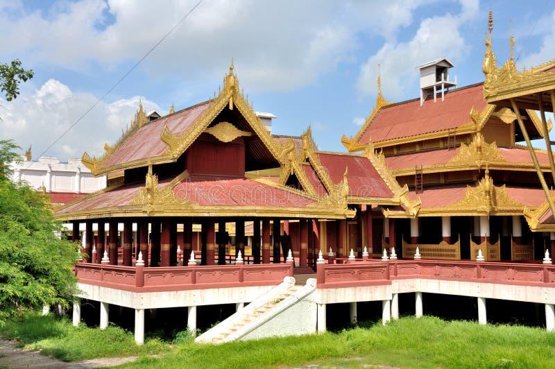 Mandalay Palace stock foto's