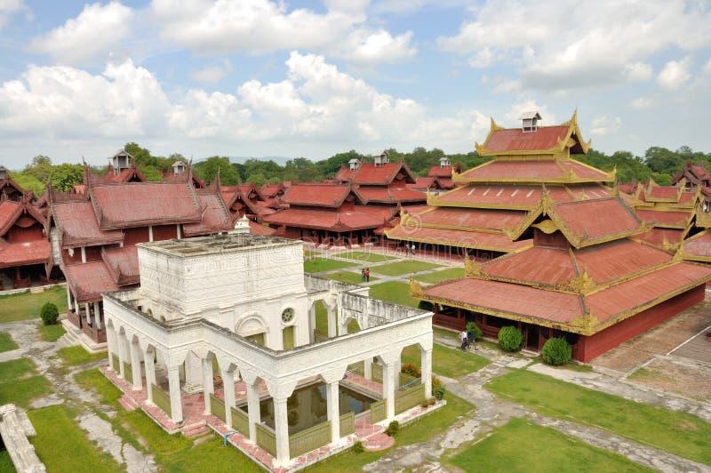Mandalay Palace royalty-vrije stock afbeelding