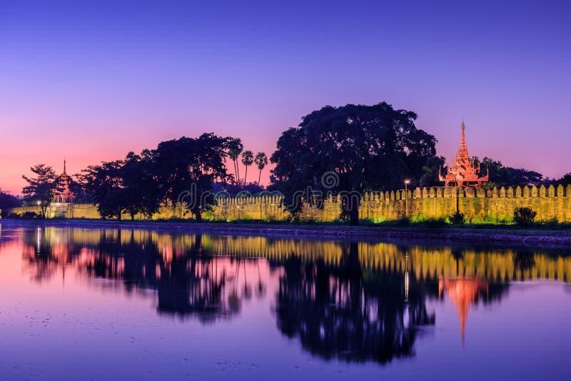 Mandalay Palace royaltyfri fotografi